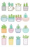 Set of Cute Plant Doodle