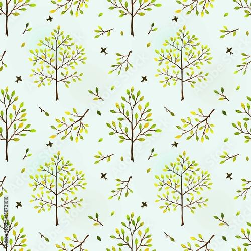 Materiał do szycia Bezszwowe tło z drzew