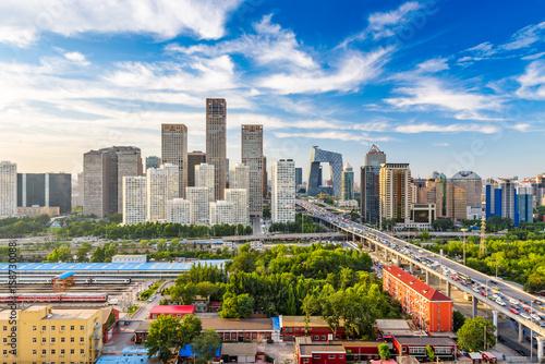 Fototapeta Beijing, China Skyline