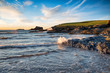 The beach at Trevone near Padstow on the Cornwall coast