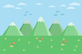 mountain hill landscape on the sky background.vector and illustration