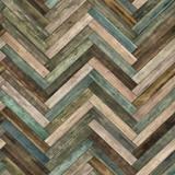 Seamless wood parquet texture (herringbone various) - 158751227