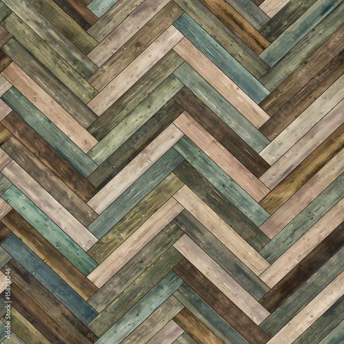 Seamless wood parquet texture (herringbone various) - 158751246