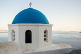 Blue dome on Santorini