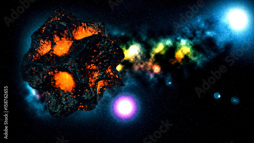 Flying asteroid