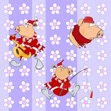background with pigs seamless pattern
