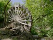 A waterwheel stands close to Price's Falls in Murray County, Oklahoma