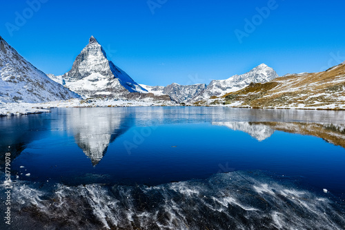 Matterhorn reflection Poster