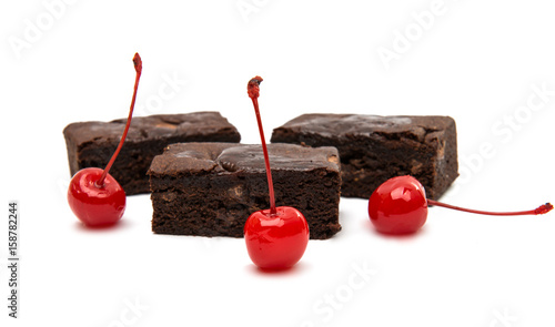 Chocolate Brownie isolated