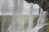 Inside the waterfall. Iceland.