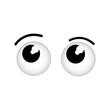 cartoon eyes icon over white background vector illustration