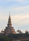 phasornkaew temple of Thailand in the morning