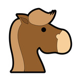 horse rocking toy icon vector illustration graphic design