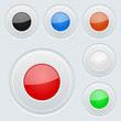 Round colored buttons on gray background