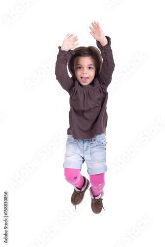 Póster Girl jumping
