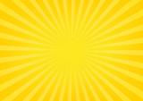 Sun rays, sunburst on yellow and orange color background. Vector illustration summer background design. - 158835221