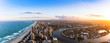 Panorama of Southern Gold Coast looking towards Broadbeach
