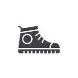 Sport shoe, Sneakers icon vector, filled flat sign, solid pictogram isolated on white. Symbol, logo illustration. Pixel perfect