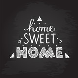 Home sweet home. hand lettering poster.chalkboard. - 158862097