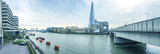 London panoramic view along river Thames