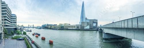 London panoramic view along river Thames