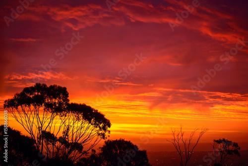 Foto op Canvas Baksteen Dramatic Australian sunset