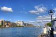 Samuel Beckett Bridge in Dublin, Ireland. - 158866222