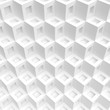 White Cubes Background. Modern Graphic Design