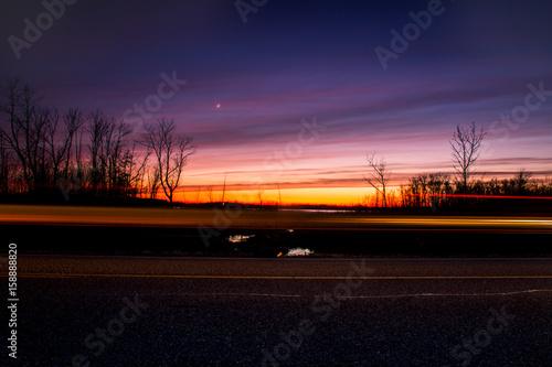 Foto op Aluminium Nacht snelweg Streaking By