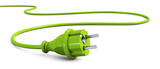 Green power plug lying on the floor - 158889413