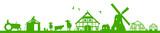 Silhouette Bauernhof - 158895419