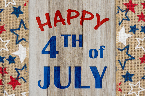 Poster Happy 4th of July greeting