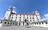 Bratislava Castle on a sunny day, Slovakia