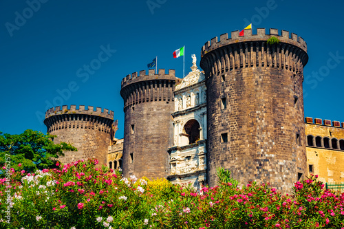 Foto op Canvas Napels The medieval castle of Maschio Angioino or Castel Nuovo (New Castle), Naples, Italy.
