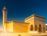 Bourguiba Mosque in Monastir, Tunisia. Traditional muslim architecture.