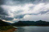 the landscape of  Rain clouds with Mountain