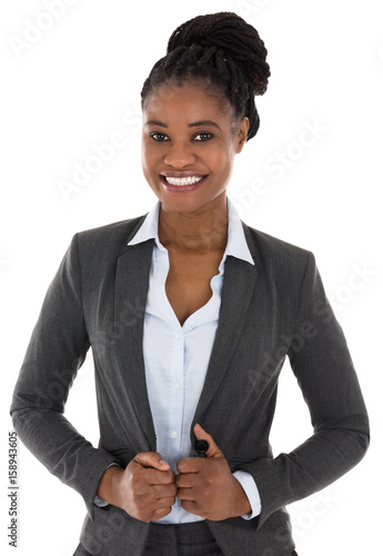 Close-up Of Happy Businesswoman