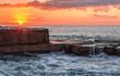 Rock Shelf Sunrise Seascape