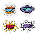 Fototapety Set of comic like pop art signs over white background vector illustration