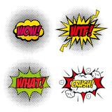 Fototapety Set of comic like pop artsigns over white background vector illustration