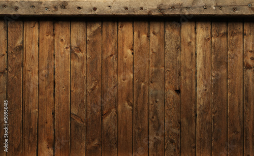 Old worn out wooden planks background - 158950415