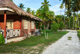 Traditional  old house in  island of  La Digue,  Seychelles - 158955092