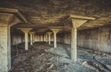 Dark abandoned building interior