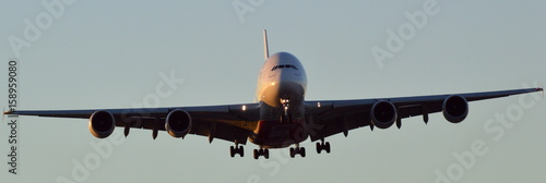 Airbus A380-800 coming in to land Poster