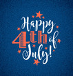 Retro Happy 4th of July typography design for greeting cards, web page banners, posters