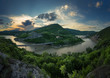 Magnificent spring sunset. Panoramic view of the rock phenomenon Wonderful rocks (Bulgaria)