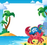 Frame with pirate crab