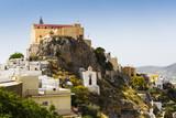 Capuchin monastery in Ano Syros village on Syros island in Greece  - 158972804