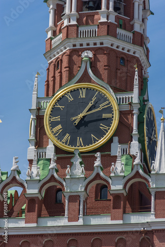 Clock on Spassky Tower on Red Square Poster