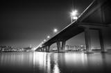 Seoul City at Night and Han River, Yeouido, South Korea